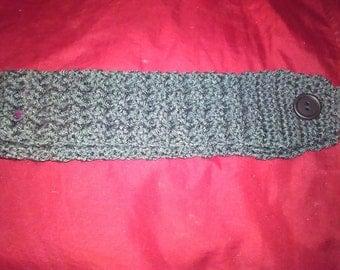 Crochet Headband/earwarmer.  headband with button. headband with bumps