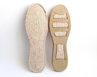 "Wear the authentic Spanish-made espadrille soles, the Mediterranean and eco-friendly jute rope flats. 36 EU (23 cm / 9.06"")"