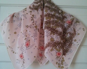 Fern and Floral Vintage rain scarf