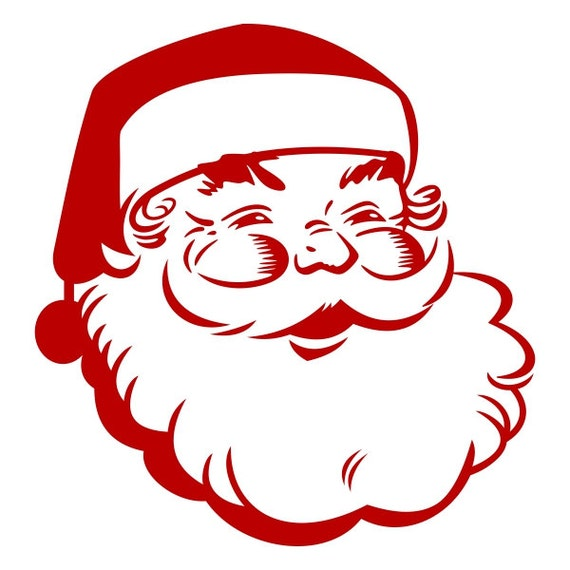Retro Santa Pack Cuttable Design Christmas Svg Dxf Eps Use