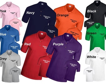Personalized Custom Printed Polo Shirt Workwear or Leisure wear ideal for Corporate Events, Uniform