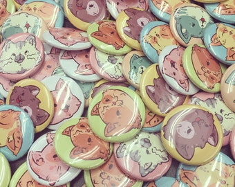 Cat Pack Buttons