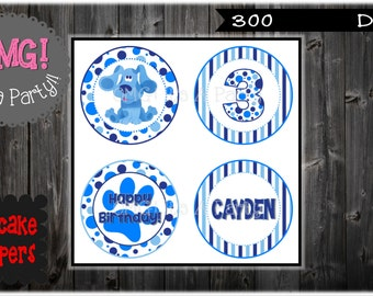 Blues Clues Cupcake Toppers, Blues Clues Toppers, Blues Clues Party Printables