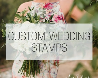 Custom Wedding Stamp - Personalized Wedding Stamp Rubber - Save The Date Stamp - Wedding Favor Stamp - Custom Stamp Wedding Invitation