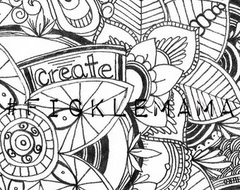 FREE PDF Adult Coloring Page From FickleMama See Description