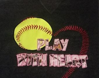 Play with Heart Softball Sweatshirt