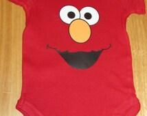 ELMO Sesame Street Inspired Onesie or Toddler Tee, UNISEX baby onesies, Baby Shower Gift, Baby Girl Onesie, Baby Boy Onesie, Baby Clothes