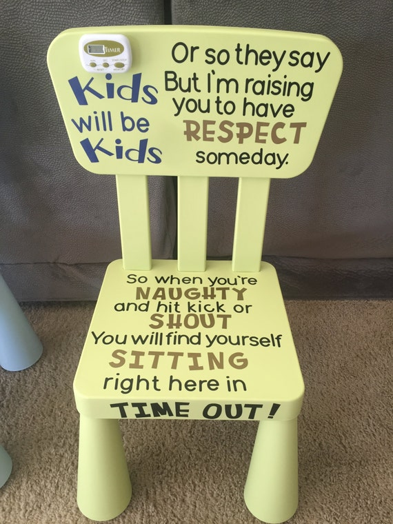 Kids Time Out Chair by KrabbyCrafter on Etsy
