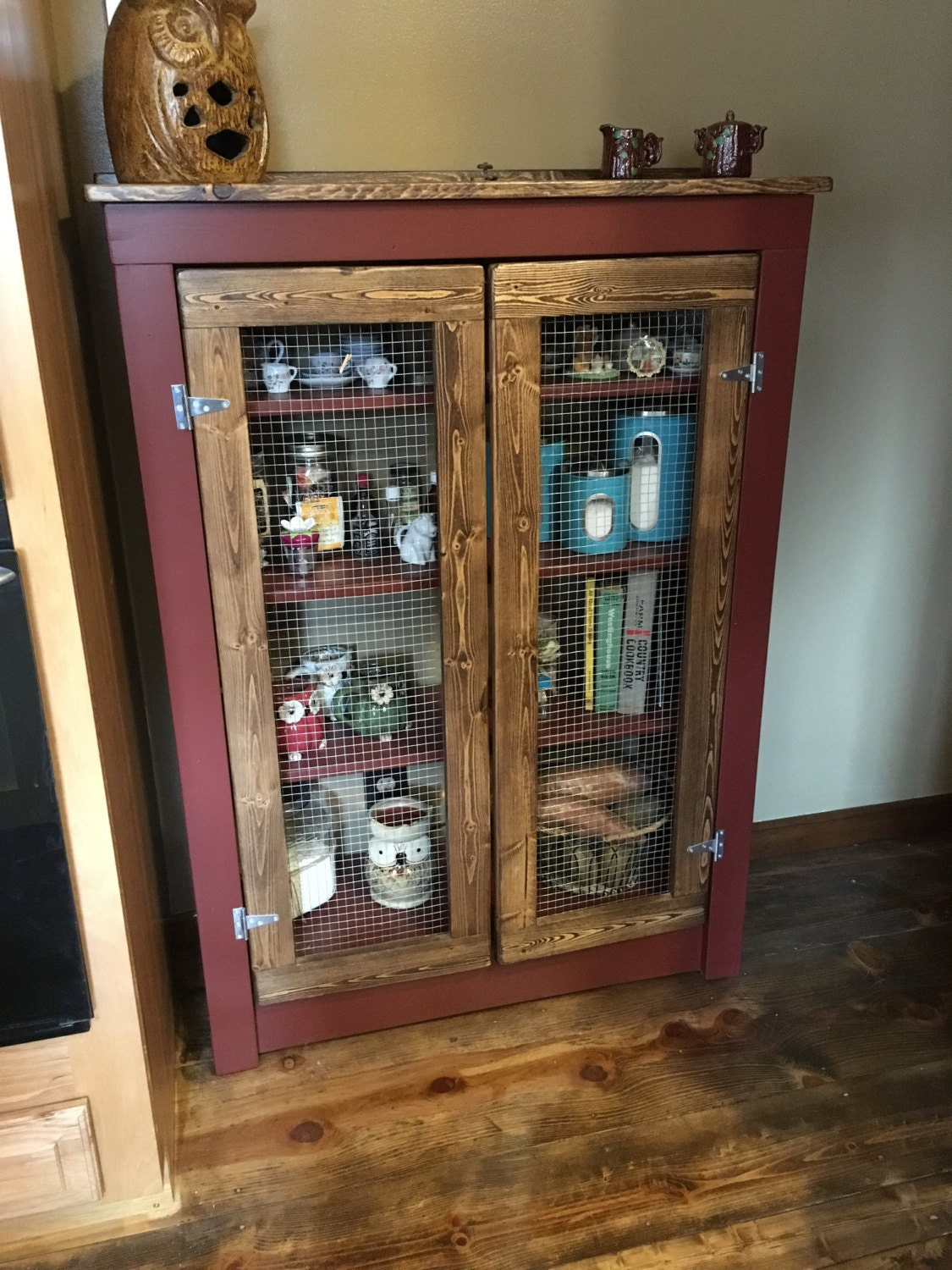 Rustic Farmhouse Primitive Jelly Cabinet Pie Safe