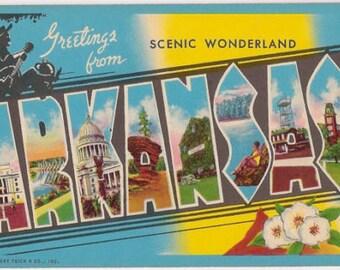 """Greetings from Arkansas"""" FRIDGE MAGNET 2"""" X 3"""""""