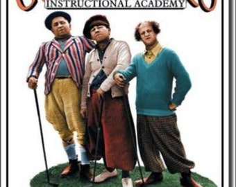 """2"""" x 3"""" Magnet The 3 Stooges Golf Instructional Academy Movie"""