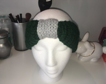 Slytherin Inspired Knit Ear Warmer Headband