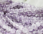 6mm Light Amethyst Round - Purple Beads Genuine Natural Gemstones Full Strand AA Quality