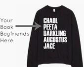 CUSTOM Book Boyfriend Sweatshirt - Reader Gift - Bookworm - Gift For Her - Bookish Sweatshirt - Book Lover Sweatshirt - Bookish Clothing