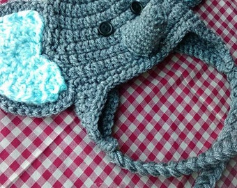 Newborn Elephant Hat - Crochet - Photo Prop - Baby Gifts