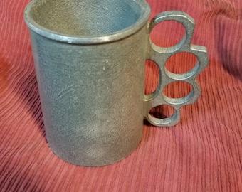 Matte Finish Brass Knuckle Mug