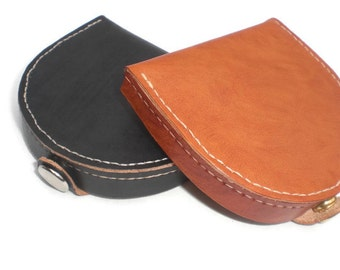 Leather Coin Wallet, Leather Coin Purse, Leather Coin Tray, Leather Clam Purse, Leather Coin Wallet