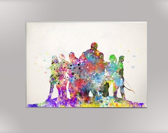 Avangers, Super Heroes,  Watercolor Print  Print Children's Wall Art Home Decor Wall Hanging