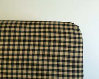 Black and latte plaid fitted cream sheet