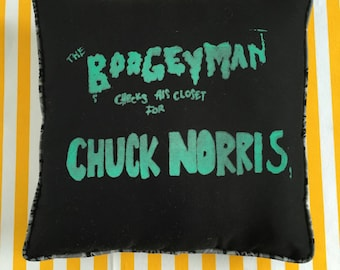 Glow in the dark boogeyman chuck Norris pillow