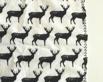 Deer silhouette receiving blanket