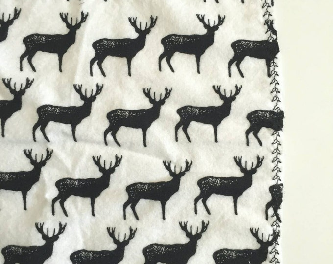 Deer silhouette receiving blanket