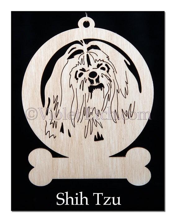 Shih Tzu-Shih Tzu Ornament-Shih Tzu Gift-Free Personalization