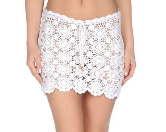 Crochet miniskirt PATTERN, detailed tutorial for every row, trendy crochet miniskirt pattern,  miniskirt pattern