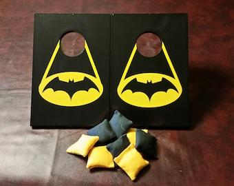 Tabletop Cornhole Boards-Batman