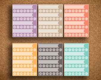 LARGE Habit Tracker Sidebar/Notes Planner Sticker for Inkwell Press Planner IWP-LHT4