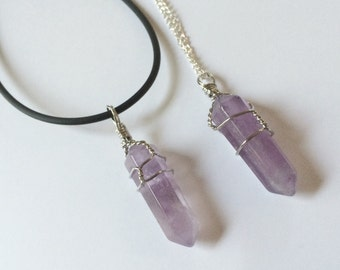 Amethyst Wire Wrapped Necklace