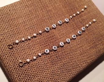 Best Friends Beaded Bracelet