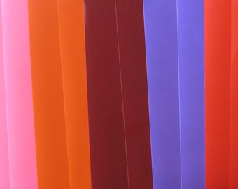 14 Vinyl sheets- for craft and sign writing, Assorted Colours Plus free Transfer
