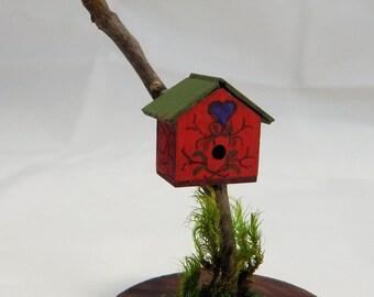 Miniature Red Wren House