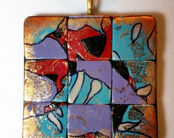 Mosaic Pendant IV Necklace