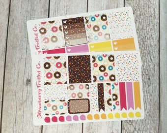 Donuts Themed Planner Stickers - Made to fit Vertical Layout