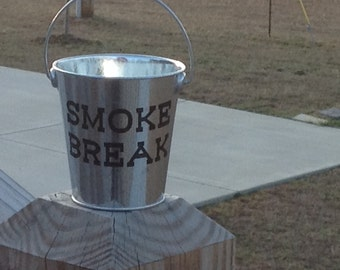 Small Galvanized Bucket-Funny