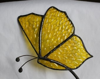 Stained Glass Butterfly Garden Stake - Stained Glass Butterfly - Garden Art - Stained Glass Suncatcher - Garden Decor