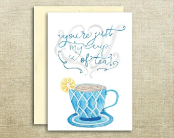 Cup of Tea Teacup Mother's Day Print Card