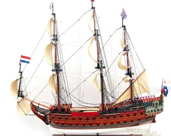 "ON SALE USD100 off 38"" Handcrafted Zeven Provincien Tallship Model"