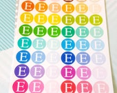 Coloured Etsy Icon Circles Planner Stickers Decorative Edition //031