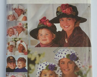 Simplicity 8268 Mom and Daughter Hat Pattern