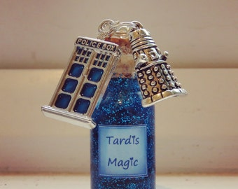 Doctor Who bottle necklace