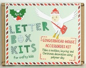 Gingerbread House Charm Decorating Kit - Makes a Necklace, Keyring and Decoration - Craft Kit for Crafty Kids