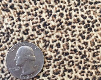 Leopard Print stretch denim fabric