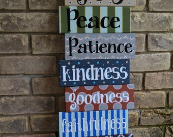 Fruit of the Spirit Wood Pallet Sign // Wall Decor // Galatians 5 Sign // Fruit of the Spirit Sign // Wood Pallet Sign // Wall Art