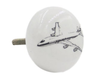 Airplane Airline Knob Pull for Dresser, Cabinet, Drawer or Door - CVK1