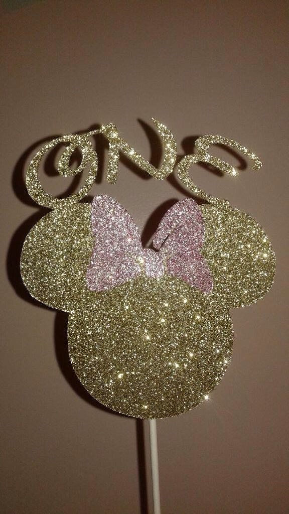 Minnie mouse cake topper mickey