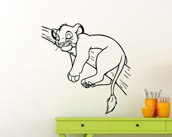 Lion King Wall Decal Simba Disney Cartoon Vinyl Sticker Home Room Nursery Boy Girl Baby Kids Room Art Decor Waterproof Mural 26ct