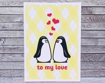 Penguin Love Card / Anniversary